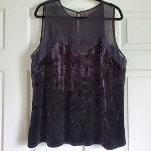 Velvet and Lace Tank